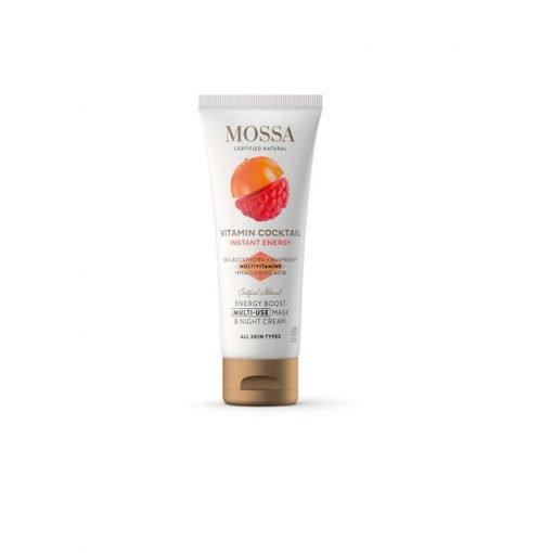Mascarilla y crema de noche energizante 2 en 1 60 ml Mossa