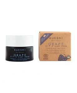 Crema de noche de uva y vitamina C Kueshi